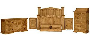 King Mansion Complete Bedroom Set Includes: