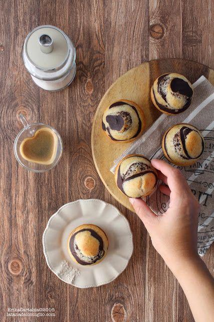 La tana del coniglio: Muffins variegati cacao e banana (vegani)