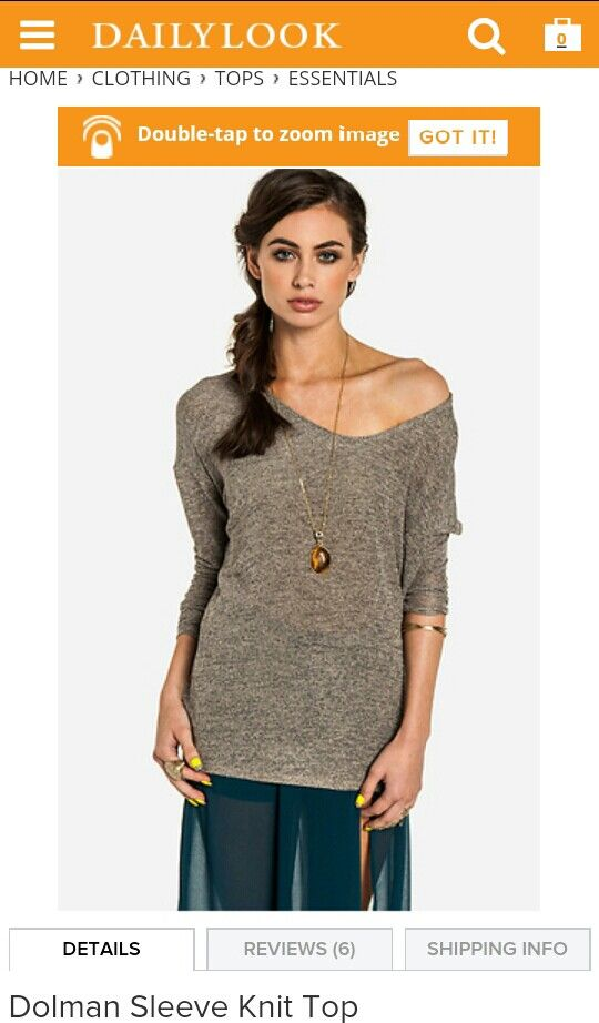 Dolman Sleeve knit top love these baggy tops but the arm sleeves fit nice and snug from Dailylook. Comea in several colours