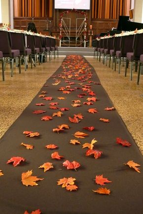 """Leaves instead of Petals from the """"Flower Girl""""....Best Idea yet, thanks dad!!"""