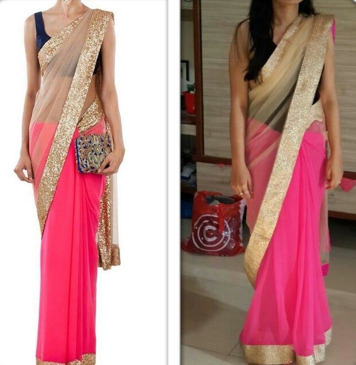 Traditional Saree Indian BOLLYWOOD Designer Party Ethinic Wear wedding new sari