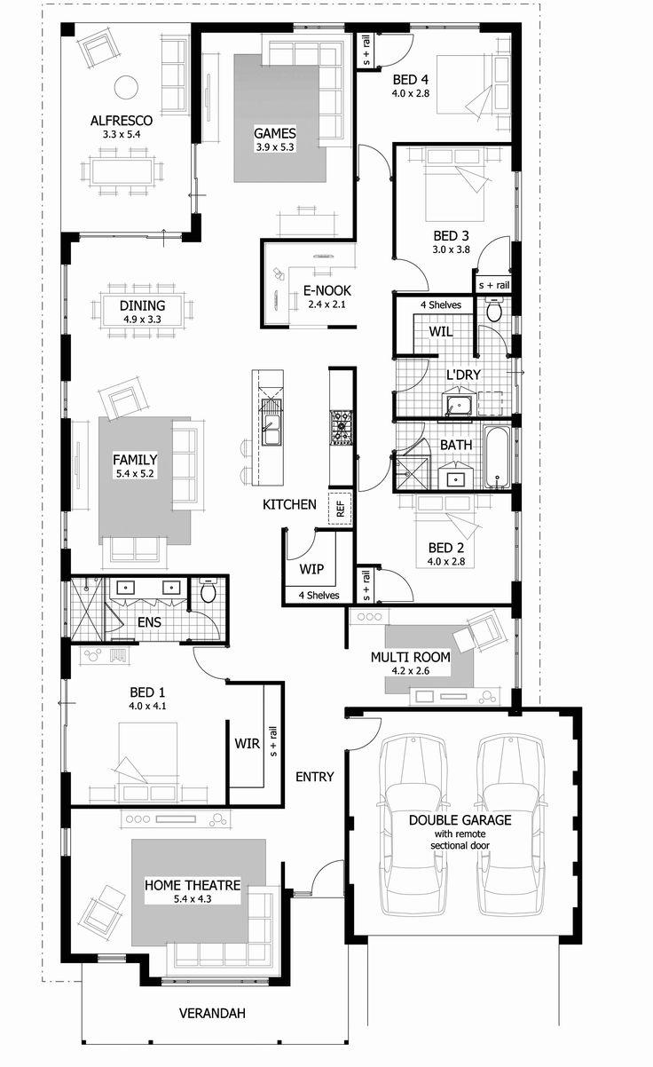 Modern 1 Story House Plans Luxury Three Bedroom Floor
