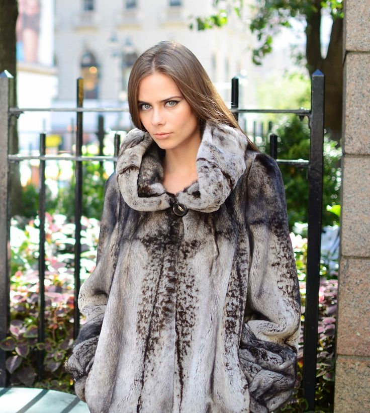 Dyed Sheared Mink Fur Hooded Coat