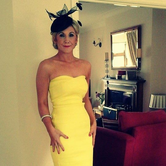 Wedding Guest wearing a hat by JHK Millinery at a recent wedding.  #stunner