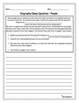 Biographical essay prompt