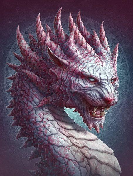 Dragón del tigre por kerembeyit (imagen de la impresión)