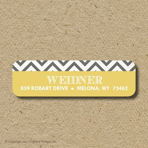 Custom return address labels selfadhesive  by saralukecreative, $19.50