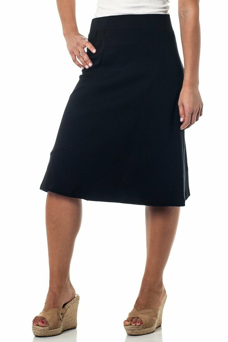 Alki'i A-Lined Mid Length Skirt with Elastic Waistband           ($19.99) http://www.amazon.com/exec/obidos/ASIN/B007HON6SA/hpb2-20/ASIN/B007HON6SA I would definitley recommend this skirt. - The fit is perfect and the skirt is very comfortable. - This skirt is perfect for casual summer days.