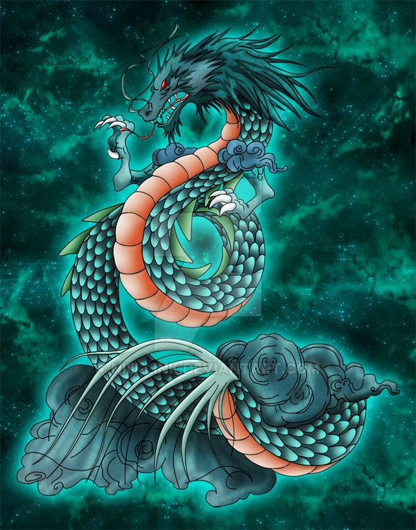 Tatouage Dragón Shiryu por Niiii-Link