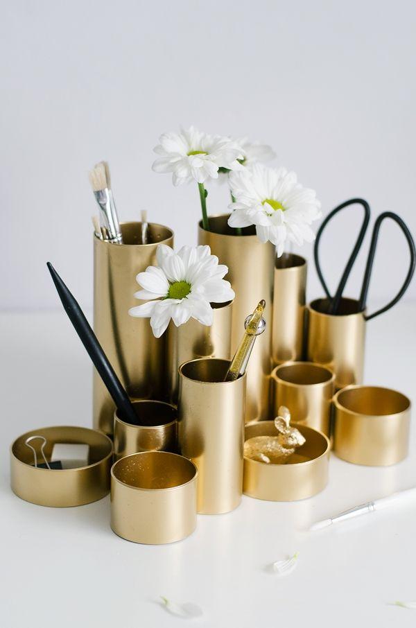 DIY Ideen für einen aufgeräumten Schreibtisch #Frühjahrsputz (Diy Beauty)