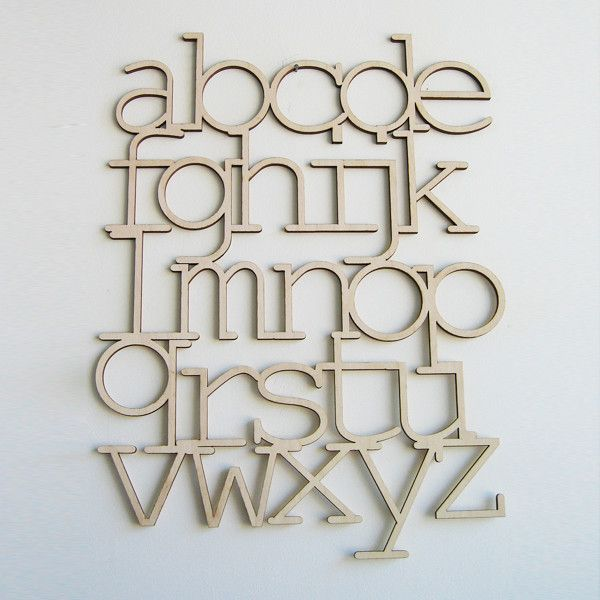 wooden alphabet from Bookhou designs