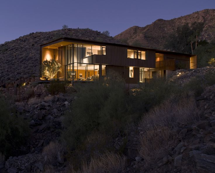 Awesome Will Bruder + Partners   Paradise Valley In Arizona   Jarson Residence  Adjacent To A City Mountain Preserve To The South, The House Gracefully  Embraces The ... Gallery