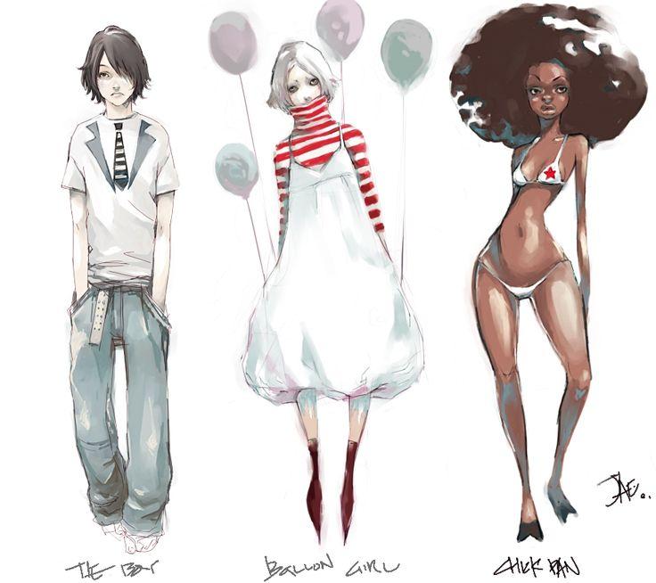 Character Design by *gunnmgally on deviantART