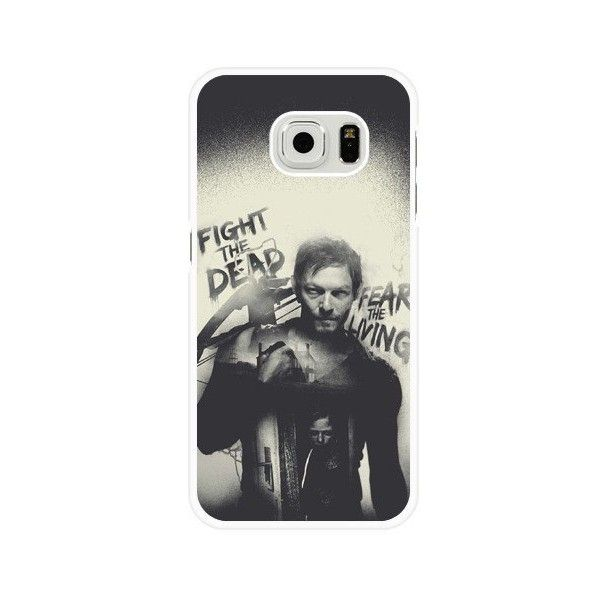 Samsung Galaxy S6 Case, Customized The Walking Dead White Hard Shell... ❤ liked on Polyvore featuring accessories, tech accessories, samsung, samsung smartphones, galaxy smartphone, samsung galaxy smartphone and prepaid smartphones