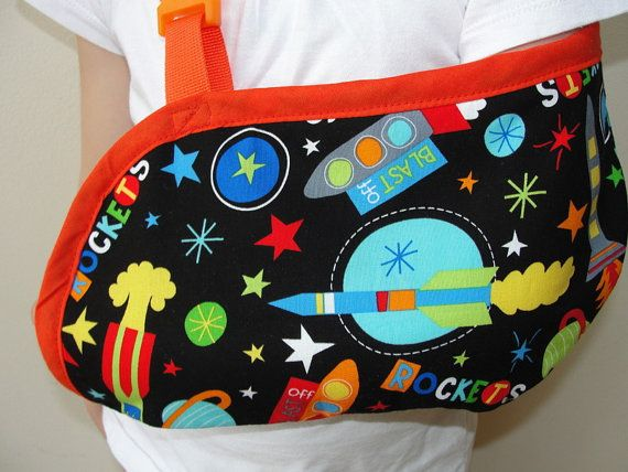 Space rockets childs arm sling for a broken arm by KidsSlings, $26.00