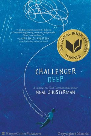 Challenger Deep / Neal Shusterman. Caden Bosch is on a ship that's headed for the deepest point on Earth: Challenger Deep, the southern part of the Marianas Trench. Caden Bosch is a brilliant high school student whose friends are starting to notice his odd behavior. Caden Bosch is designated the ship's artist in residence to document the journey with images. Caden Bosch pretends to join the school track team but spends his days walking for miles, absorbed by the thoughts in his head.