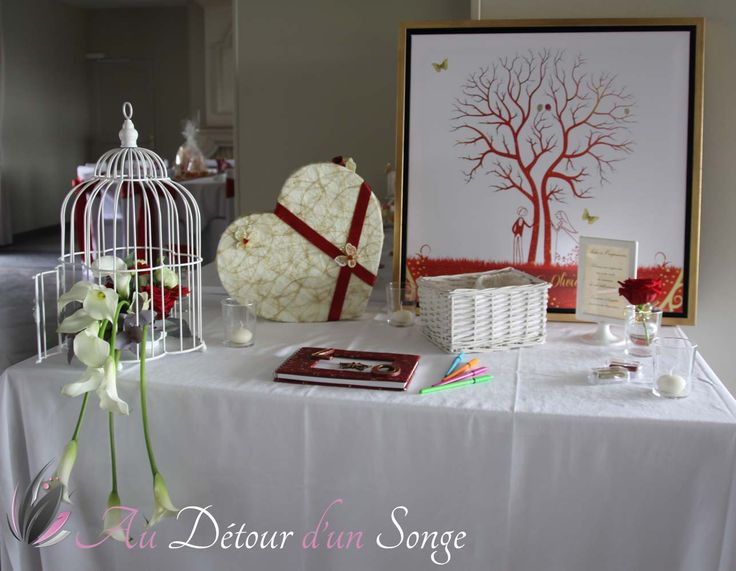 37 best images about d coration de mariage blanc - Decoration table des maries ...