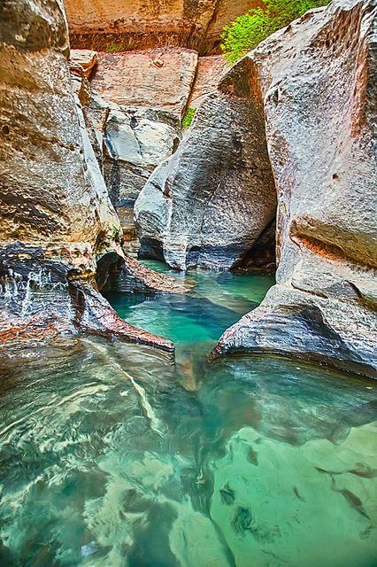 Subway pools | Utah Zion National Park