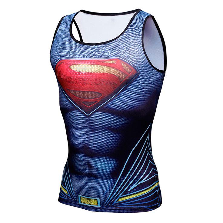 Compression Shirt Batman VS Superman 3D Printed Tank Top Men Gymshark Bodybuilding and Fitness Men's Singlets Tank Shirts