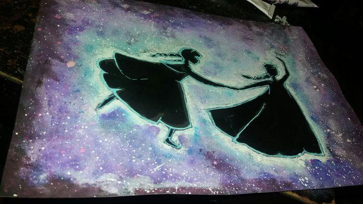 Anna & Elsa silhouette