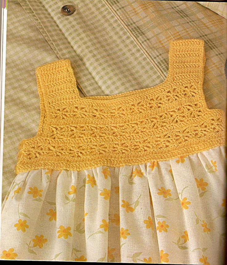 Crocheted yoke for cotton summer dress