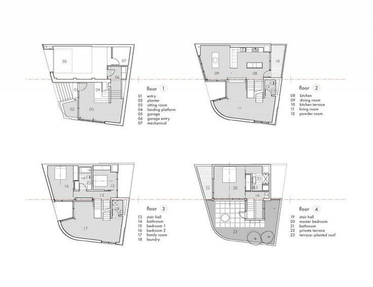 스킵플로어 구조를 적용한 다양하고 풍부한 공간연출, Split Level House : 네이버 블로그