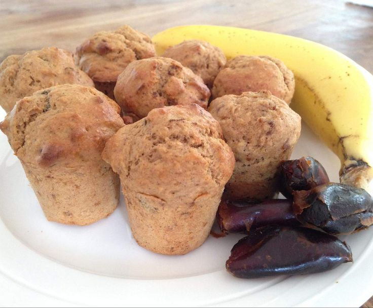 Recipe 30 sec date, banana and coconut sugar mini muffins by Chrissy Robertson - Recipe of category Baking - sweet