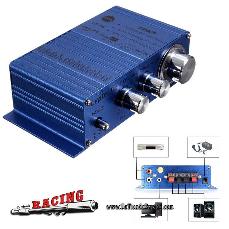 Mini Amplificador 2 Canales Hi-Fi Stereo Audio Para Coche Móvil AUX MP3 Color Azul - 15,58€ - TUTIENDARACING - ENVÍO GRATUITO EN TODAS TUS COMPRAS