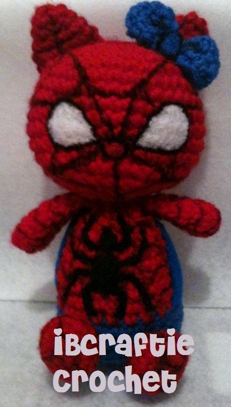 Crochet Spider Kittie iBcraftie Crochet Custom Design