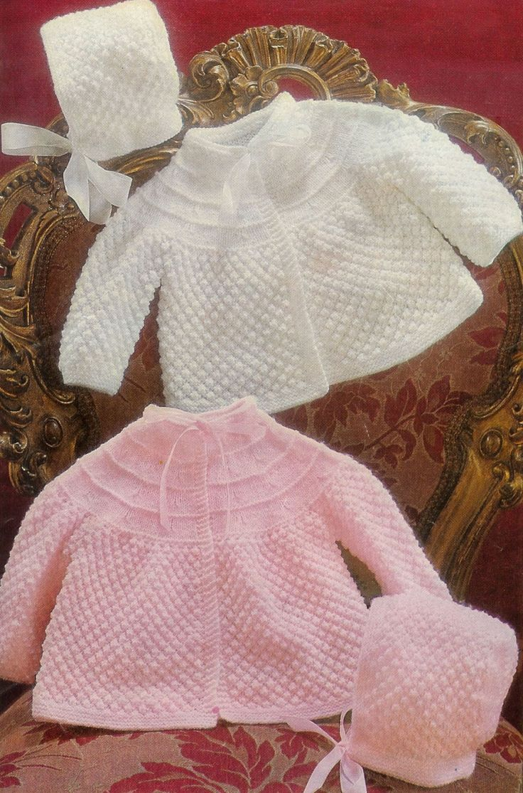 169 best vintage baby images on pinterest white colors crafts baby 3 ply 4ply matinee jacket bonnet 18 19 by avintagescot knitting patterns freebaby bankloansurffo Gallery