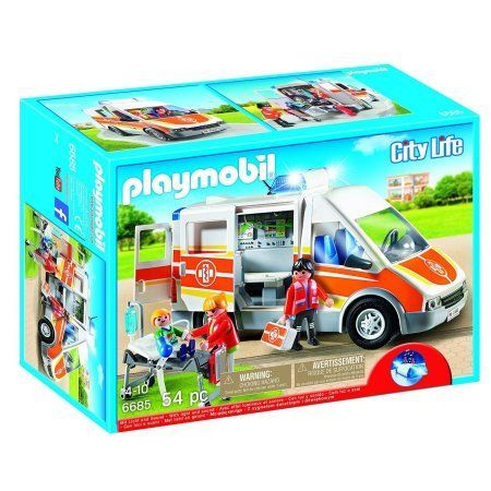 Playmobil Ambulance with Lights and Sound, Multicolor