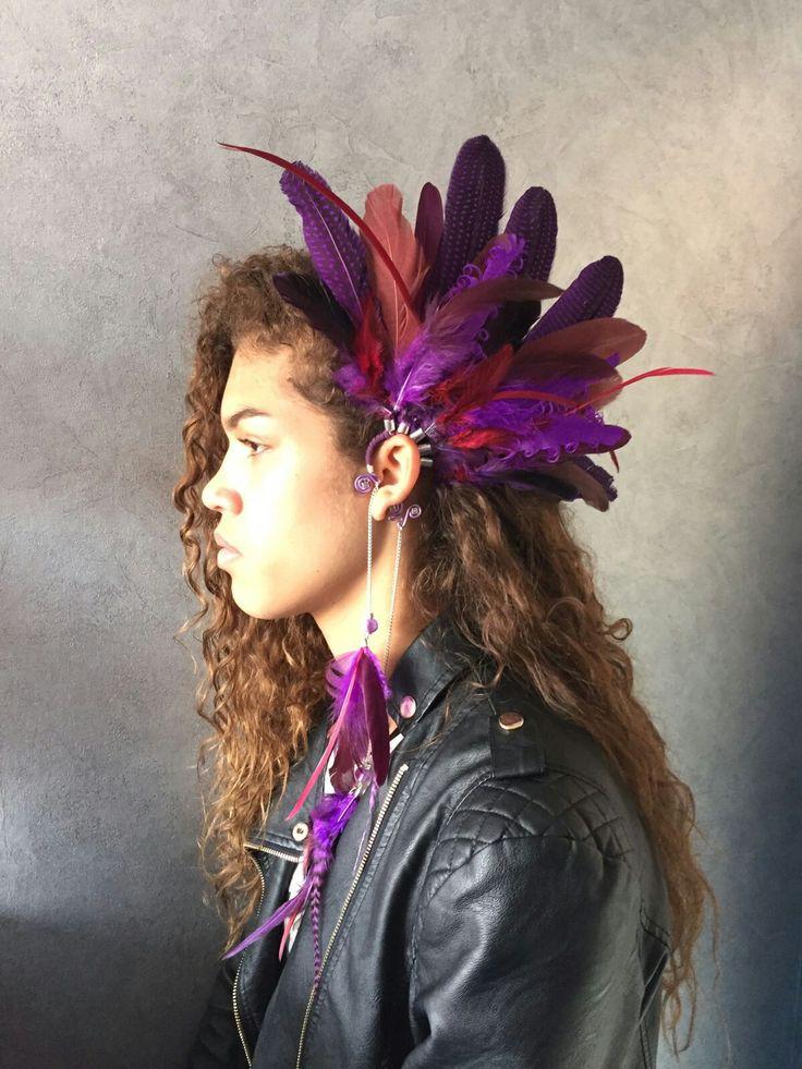 Beautiful purple earcuff for summer festival