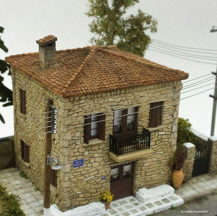 Greek stoney house (1/87 scale)