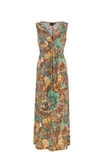 Aquatic Knot Front Maxi Dress #summer #summerdress #tribalsportswear #maxidress #dress #fashion #style #summerstyle
