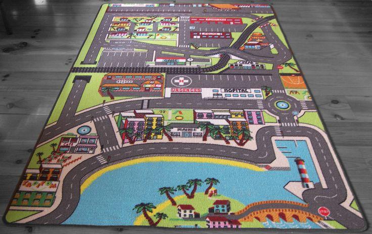 grand tapis de jeu pour enfant 130x200 pour jouer avec vos petites voitures..... création TAPITOM !