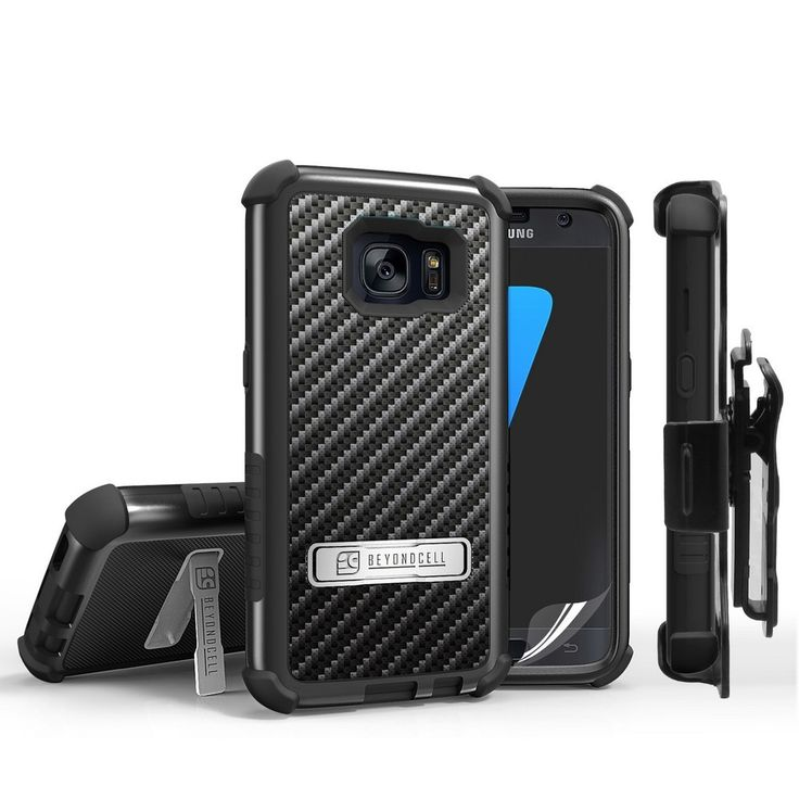 Tri Shield Combo For Samsung Galaxy S7 Black/Black TPU Case,Belt Clip Holster,Kickstand