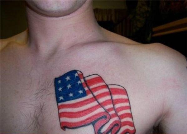 Patriotic Tattoos So Bad They're Un-American