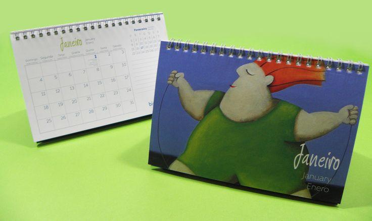 Display calendário de Mesa - nada como promover seu negocio com essa peça publicitária