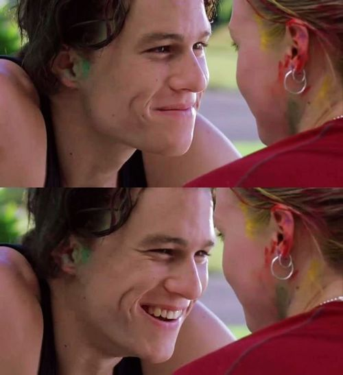 10 Things I Hate About You.. favorite movie of my teenage years, I fell in love with Heath Ledger in this <3 <3