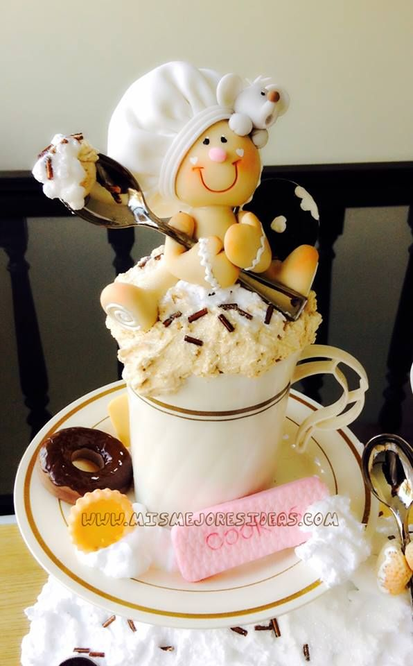 Coffee cup clay gingerbread