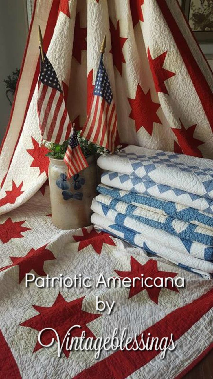 American Antique Quilts are our specialty. See us at Vintageblessings.com