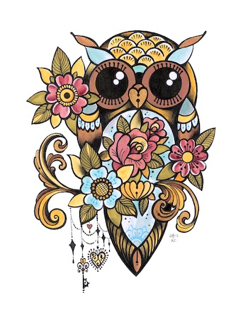 dawnii fantana, owl: Tattoo idea!...WILL LOVE THIS TATTOO AROUND MY RIBS!