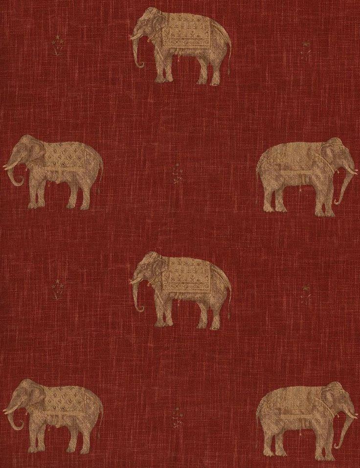 Jehan Brick/Teracotta Fabric