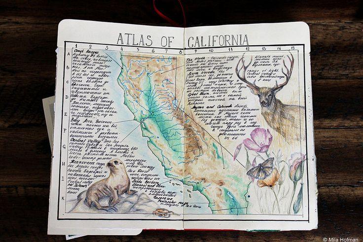 Atlas of California. Art notes journal