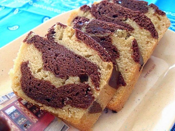 Ma Cuisine Végétalienne: Cake marbré, chocolat vanille (Vegan)