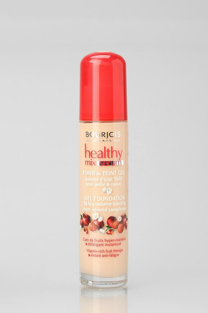 At last! The best method for that healthy glow all day and night: Bourjois Healthy Mix serum gel foundation! Buildable coverage with a light finish and packed with vitamins. #urbanoutfitters