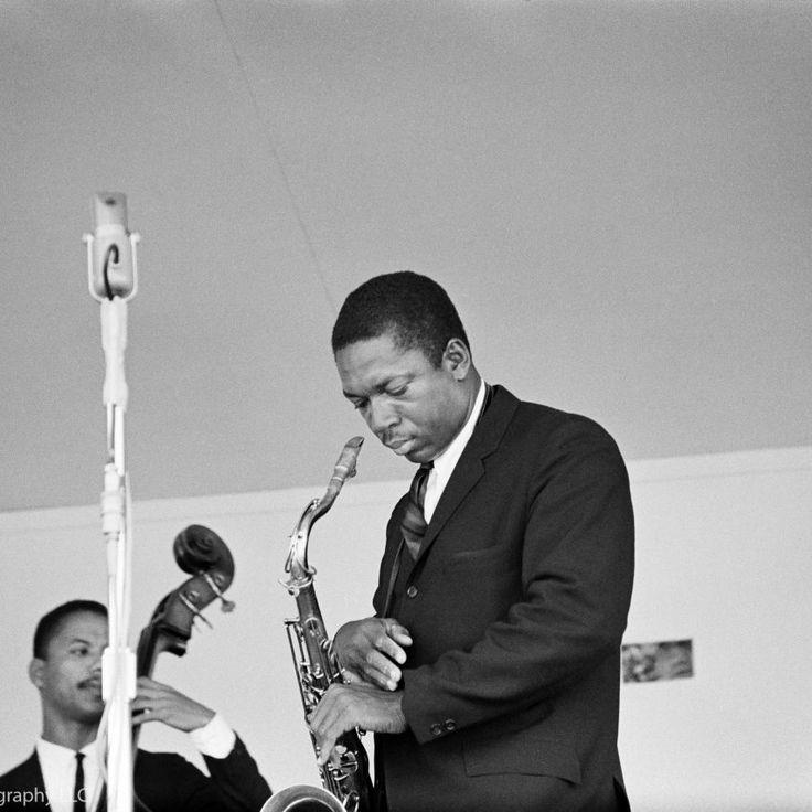 John Coltrane photographed at Monterey Pop Festival in Monterey, CA September 24, 1960