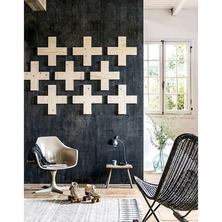 House Doctor Block Vloerkleed Zwart/Wit - 90 x 200 cm