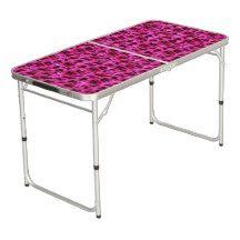 #Geranium #Flowers #Table #Aluminum #Folding #Adjustable #Pink #Magenta #Floral #Blooms #Pattern #Hot #Flora #Pretty #Homedecor. Magenta Geranium Flowers, Folding Aluminum Table. Beer Pong Table
