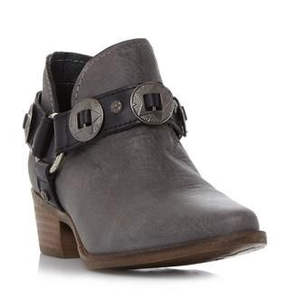 STEVE MADDEN ACES SM - Belt And Hardware Detail Ankle Boot - grey | Dune Shoes Online